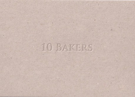 10 Bakers: Blind deboss design onto greyboard card. Edition of 100