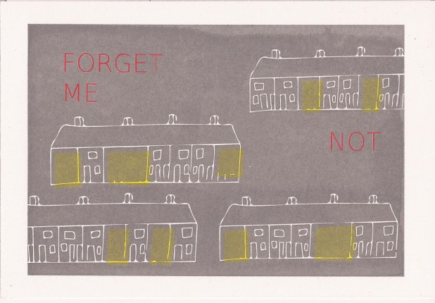 Forget me not: Risograph print. Edition of 100